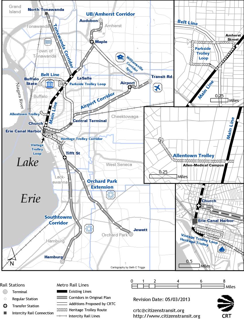 Metro rail corridors citizens for regional transit