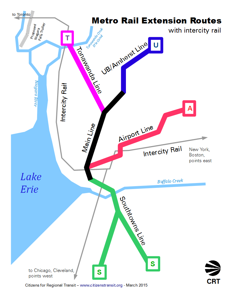 [Schematic map of new Metro Rail Lines - 115K]